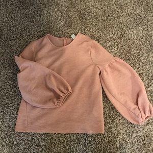 bubble sleeve blouse